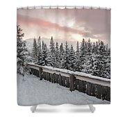 Sky Crack Over Tatra Mountains Shower Curtain