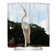 Sky Crane Shower Curtain