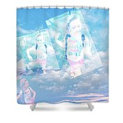 Sky Dancing Shower Curtain