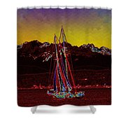 Sky Diamonds Shower Curtain