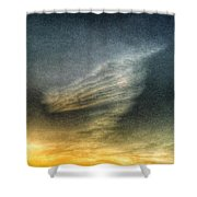 Sky Dog Shower Curtain