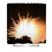 Sky Fire And Palms Shower Curtain