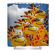 Sky Giraffes Shower Curtain