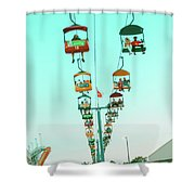 Sky Gliders Over Crowd Shower Curtain