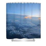 Sky High Mountain  Shower Curtain