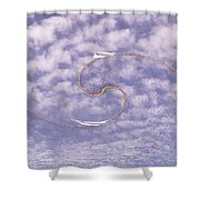 Sky High Sail Surfin Shower Curtain