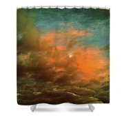 Sky Moods - When The Moons Behind The Clouds Shower Curtain