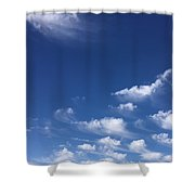 Sky Of Deepest Blue Shower Curtain