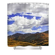 Sky On The Divide Shower Curtain