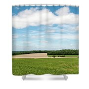 Sky Over Field Shower Curtain