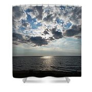 Sky Over Oval Beach Lake Michigan 1 Shower Curtain