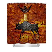 Sky People Taking Buffalo Shower Curtain