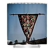 Sky Quilt Shower Curtain