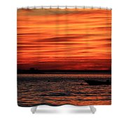 Sky Ripple Sunset Shower Curtain