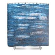 Sky Sketch Shower Curtain