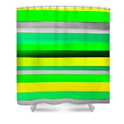 Sky Stripes 10 Shower Curtain