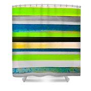 Sky Stripes 11 Shower Curtain