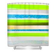 Sky Stripes 12 Shower Curtain