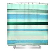 Sky Stripes 13 Shower Curtain