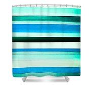 Sky Stripes 14 Shower Curtain