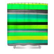Sky Stripes 9 Shower Curtain