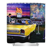 Sky View Drive-in Shower Curtain