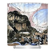 Skye Snow Clouds  Shower Curtain