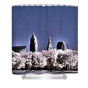 Skyline Cleveland, Ohio Shower Curtain