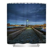 Skyline From The Walkway Cadiz Spain Shower Curtain