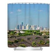 Skyline Houston Shower Curtain