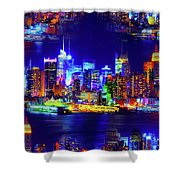 Skyline Island Shower Curtain