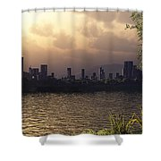 Skyline Lake Shower Curtain
