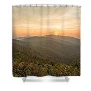 Skyline Morning Shower Curtain