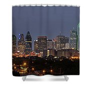 Skyline Of Dallas Pano Shower Curtain