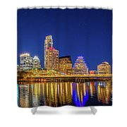 Skyline Of Downtown Austin Shower Curtain
