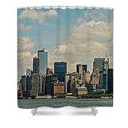 Skyline Of New York City - Lower Manhattan Shower Curtain