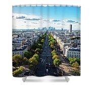 Skyline Of Paris, France Shower Curtain