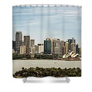 Skyline Of Sydney Downtown  Viewed From Taronga Hill, Australia Shower Curtain