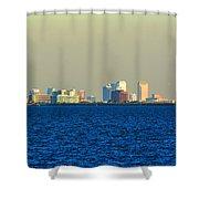 Skyline Of Tampa Bay Florida Shower Curtain