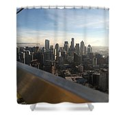 Skyline With A Purpose Shower Curtain