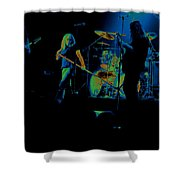 Skynyrd Sf 1975 #10 Crop 2 Enhanced In Cosmicolors Shower Curtain