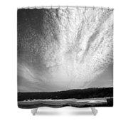 Skyscape At Carmel Beach B And W Shower Curtain