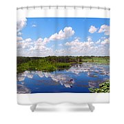 Skyscape Reflections Blue Cypress Marsh Florida Collage 1 Shower Curtain