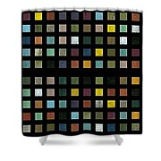 Skyscraper Abstract L Shower Curtain