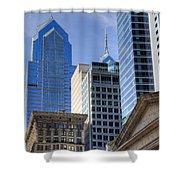 Skyscraper City Center  Liberty Place Shower Curtain