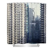 Skyscraper Windows Shower Curtain