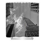 Skytops Manhattan Black And White Shower Curtain