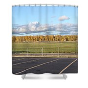 Skyview Portland Airport Oregon. Shower Curtain