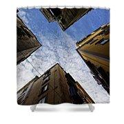Skyward In Naples Italy - Spanish Quarters Take Three Shower Curtain