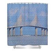 Skyway Bridge Shower Curtain